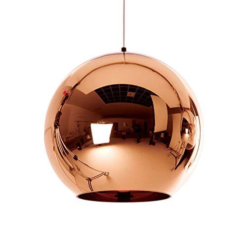 irror Glass Ball Pendant Lights Copper Color Globe Lamp Pendant Light Modern Lighting Fixtures 1 Stück,Copper,D30cm ()