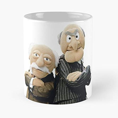 Muppets Statler Waldorf Old Men Balcony Mug Coffee Mugs For Gifts Cup - Best 11 Ounce Ceramic Coffee Mug Gift (Muppets Valentines)