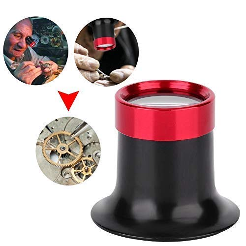 Uhrmacherlupe, Aluminiumlegierung 10X Augenlupenreparatur, Lupe für Uhr, Schmuck