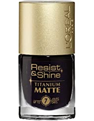L'Oréal Paris Resist & Shine Titanium Matt Nagellack, 502 Burgundy Black
