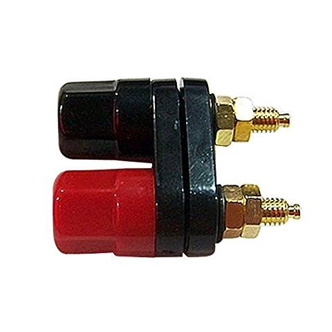 Couple Bornes connecteur fiches banane amplificateur terminal Binding post