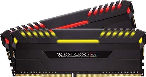 Corsair Vengeance RGB 16GB (2 x 8GB) DDR4 3200MHz C16 XMP 2.0 Enthusiast RGB LED-Beleuchtung Speicherkit, schwarz