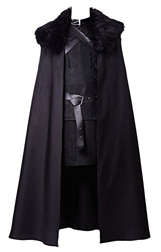 GoT Game of Thrones Jon Snow Night's Watch Outfit Cosplay Kostüm Herren S (S Halloween-kostüm Night Watch)