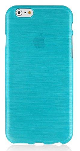 Preisvergleich Produktbild Silikon Silicon Handy Back Case Cover Schale türkis für Apple Iphone 6 6s Handy Tasche Cover Schutz Hülle Bumper türkis