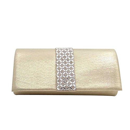 Frauen-Diamant-Abend-Beutel-Diamant-Braut-Handtasche Yellow