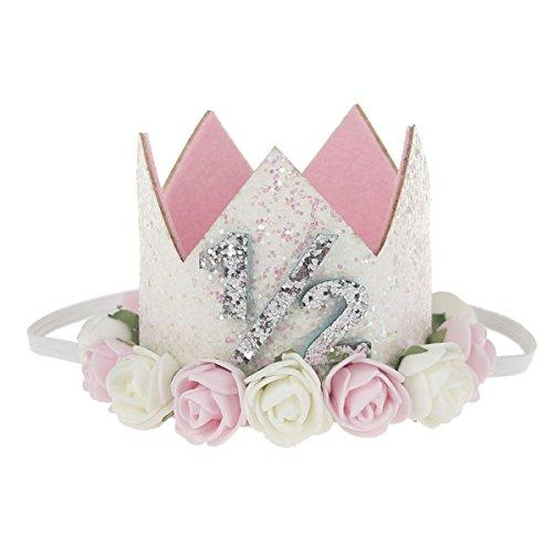 COUXILY 1 Stk Geburtstag - krone Stirnbänder Baby Birthday Tiara Mädchen Glänzend Krone Geschenksets Haarband (FS1/2)