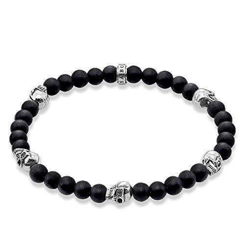 Thomas Sabo Damen-Armreifen Künstliche Perle A1097-023-11-M