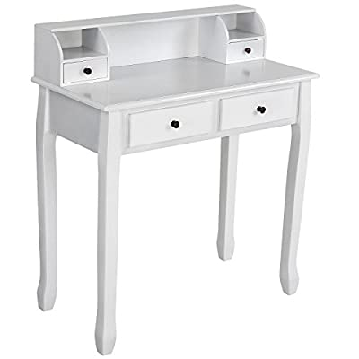 Miadomodo Dressing Table Make Up Dresser (4 Drawers) Antique-Modern Design Cosmetics Bedroom Commode available in Black and White produced by Miadomodo - quick delivery from UK.