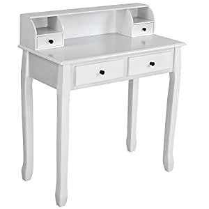 Miadomodo Dressing Table Make Up Dresser (4 Drawers) Antique-Modern Design Cosmetics Bedroom Commode available in Black and White