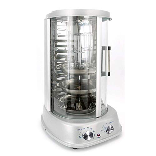 Grill professionale verticale 4 in1 grill elettrico verticale potenza 1500 w,rotazione 360 °,articoli lavabili in lavatrice griglia verticale rotante per la preparazione di döner kebab fatta in casa