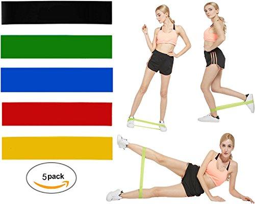 Kitty princess Stirnband von Widerstand Fitness Multifunktional Ring von Spannung für Seil-Yoga mit Kordel mit 6Saiten