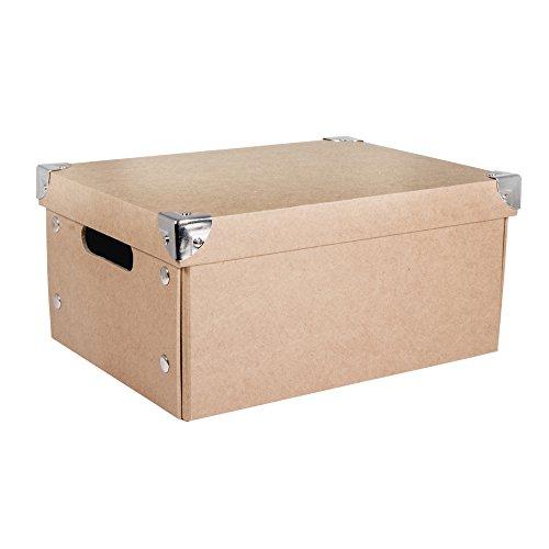 RAYHER HOBBY 67258000 Pappm. Aufbewahrungsbox, FSC Rec. 100%, 30x22x14cm, zum zusammenfalten