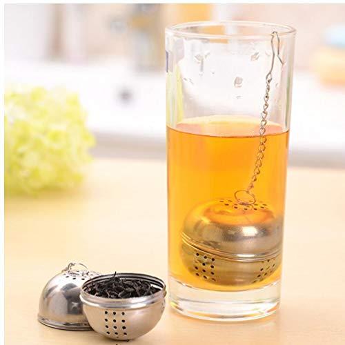 Oulensy New wichtiges Edelstahl Kugel Tee-Mesh-Filter-Sieb w/Haken lose Teeblatt Spice Home Küchenzubehör -