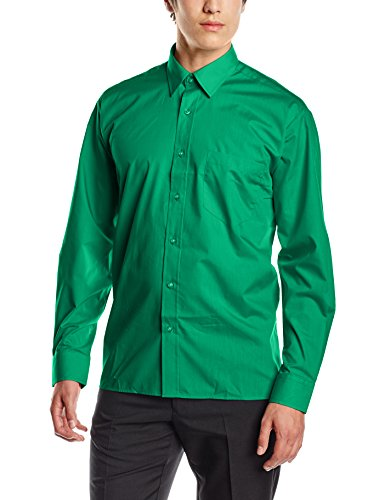 Premier Workwear Herren Businesshemd Poplin Long Sleeve Shirt Emerald