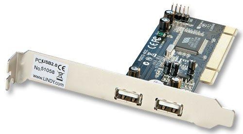 Pci-bus-anschluss (LINDY USB 2.0 Card 2 + 2 Port PCI Standard/Low Profile)