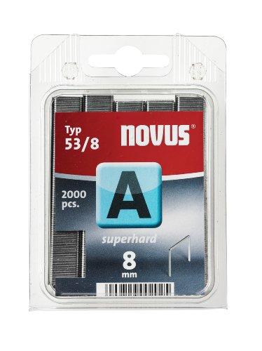 Novus 042-0356 Blister de 2000 Agrafes fines 53/8 Renforcées Gris