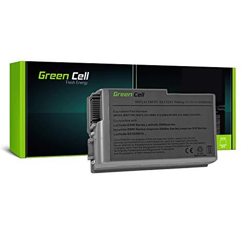 D610 Series Notebook (Green Cell C1295 Laptop Akku für Dell Latitude D500 D505 D510 D520 D530 D600 D610 (6 Zellen 4400mAh 11.1V Silber))