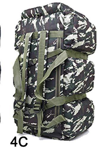 BAIJJ 90L Große Kapazität Outdoor Wandern Rucksack Militärische Taktische Packung Camouflage Gepäcktasche Camping Zelt Quilt Container 9 Taschen -