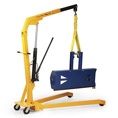 Protaurus Werkstattkran in klappbarer Ausführung, Traglast 1000 kg, Hubhöhe 2350 mm, gelb