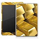 Apple iPad Mini Case Skin Sticker aus Vinyl-Folie Aufkleber Goldbarren Gold Barren