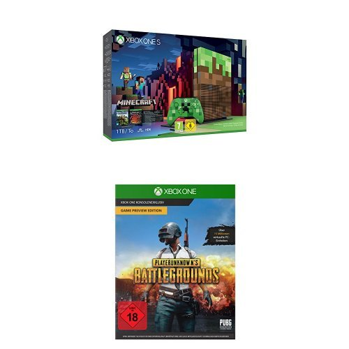 Xbox One S 1TB Konsole + Minecraft - Limited Edition Bundle + PLAYERUNKNOWN'S BATTLEGROUNDS - Game Preview Edition
