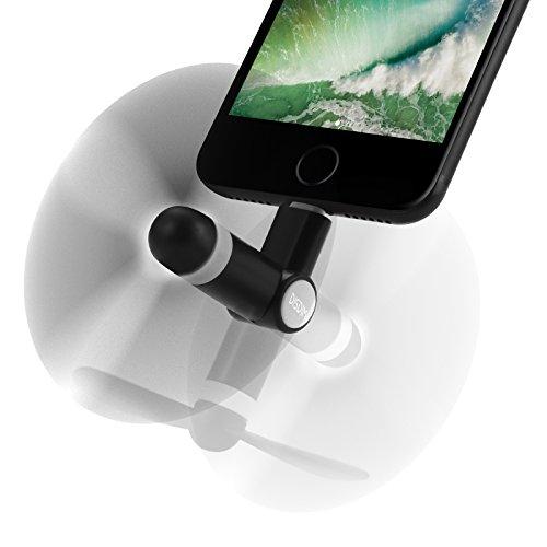 Disdim - Mini ventilatore per iPhone, accessorio di raffreddamento estivo, ventola con spina Lightning a 8poli per iPhone, con rotazione a 180°, ideale per climi caldi, periPhone 7, 7Plus, iPhone 6, 6S e iPad Pro Air