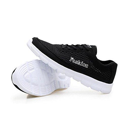 GRRONG Chaussures De Sport Pour Hommes Chaussures De Sport Filet Respirant Loisirs Black