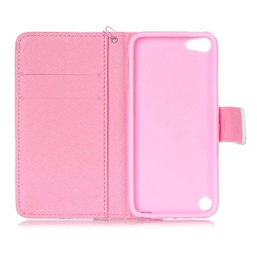 Ooboom® iPhone 6/6S Plus Hülle Flip PU Leder Schutzhülle Handy Tasche Case Cover Wallet Standfunktion mit Kartenfächer Trageschlaufe - Weltkarte Schmetterling