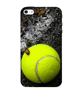 Fuson Designer Back Case Cover for Apple iPhone 4S (ball tennis ball yellow ball game win)