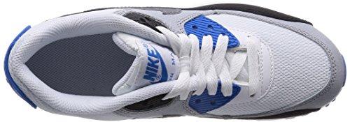 Nike Junge, Sportschuhe, air max 90 mesh (gs) WHITE/COOL GREY-PHOTO BLUE-BLK