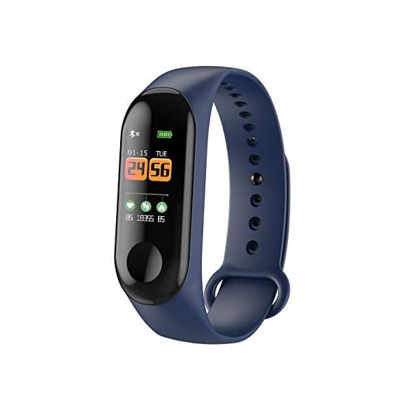 GULEHAY M3 Smart Fitness Tracker, Reloj de Actividad Impermeable con presión Arterial, Monitor de frecuencia cardíaca… 1