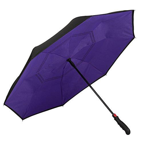 VON LILIENFELD Paraguas Mujer Hombres Automática Doble Revestimiento Remy Violeta