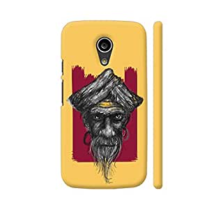 Colorpur Sadhu On Yellow Printed Back Case Cover for Moto G2