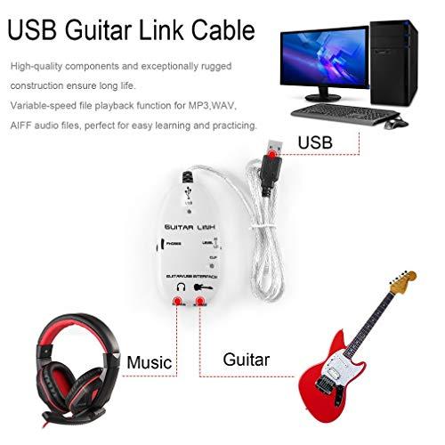 Guitarra eléctrica bajo Enlace Adaptador Cable Interfaz