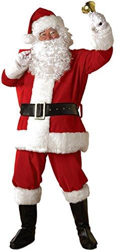 Santa Kostüm Rubies Anzug - Rubie's Adult Christmas Regal Deluxe Plüsch Santa Anzug XL