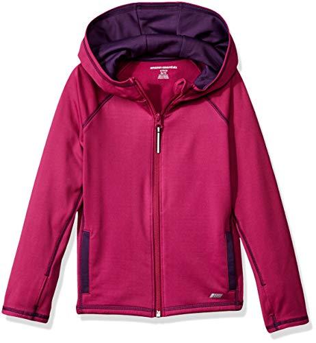 Amazon Essentials Full-Zip Active Jacket, outerwear-jackets Niñas, Fucsia, 6-7 Jahre Talla fabricante...