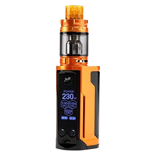 Wismec Reuleaux RX GEN3 Dual Kit 230 W, mit Gnome King Tank 5,8 ml, Durchmesser 26 mm, Riccardo e-Zigarette, gloss gold