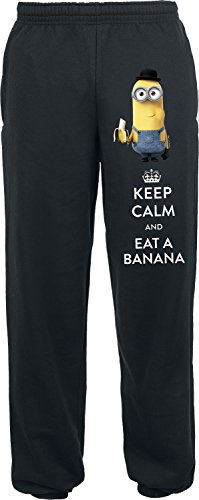 Minions Keep Calm And Eat A Banana Jogginghose schwarz L