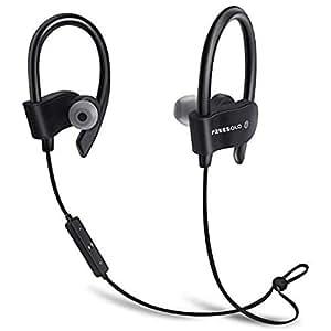 Freesolo Bluetooth 4.1 In-Ear Noice Isolating Sport Earbuds Earphone (Black, 56S-2)