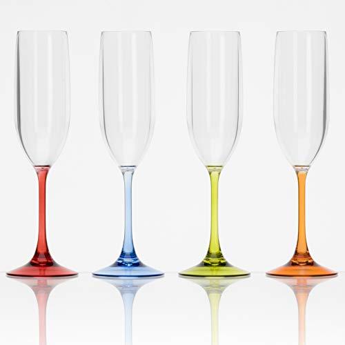 Camping Glas 2-er Set 200 ml Prosecco Trinkglas Acryl Gläser Wasserglas Party Wein Kunststoff Glas Set