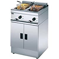 Lincat Silverlink 600 Heavy Duty Free Standing Double Electric Fryer J12 / Commercial Kitchen Restaurant Cafe