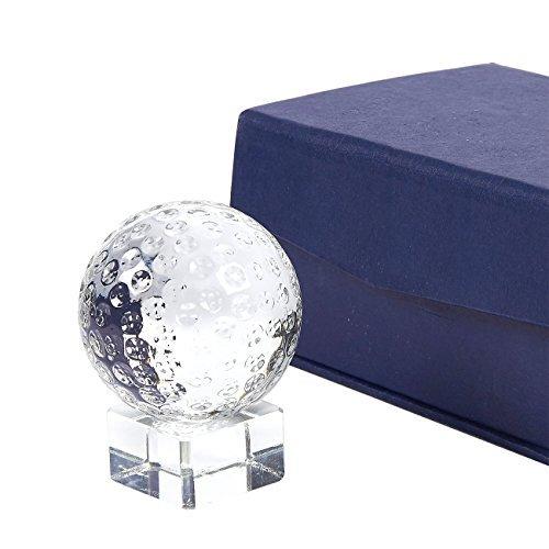 Juvale Golf Trophy-Sport Award Trophy Klein Optische Crystal Golf Ball Trophy mit abtrennbarem Standfuß, inkl. Geschenkbox, 5,1x 6,6x 5,1cm