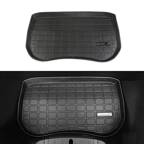 Gummi Kofferraumwanne Premium Antirutsch Fahrzeugspezifisch, Robust, Geruchlos, Speziell Für Tesla Model 3 Entwickelt Maßgeschneiderte Antirutsch Kofferraumwanne