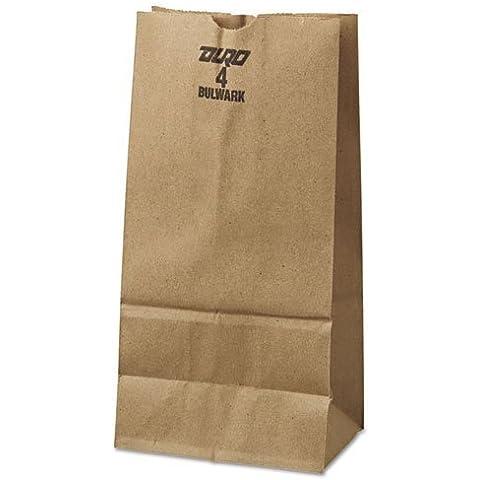 General 4# Paper Bag, 50-Pound Base Weight, Brown Kraft, 5 x 3.33 x 9-3/4, 500-Bundle - Includes 250 paper bags per bundle. by