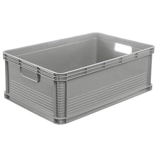 45 Liter Stapelbox  Stapelkästen Euro Box Europalette grau Gewerbekiste - Euro-box