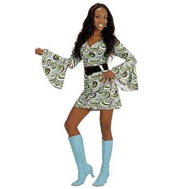 Mode 1970 Kostüme (NEU Damen-Kostüm Kleid Groovy, Waves, Gr.)