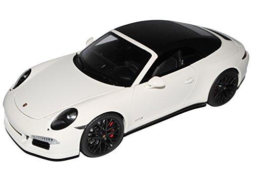 Preisvergleich Produktbild Porsche 911 991 Carrera GTS Cabrio Weiss Ab 2011 1/18 Schuco Modell Auto mit individiuellem Wunschkennzeichen