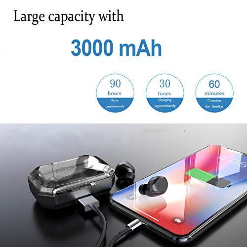 Wslhcsure Bluetooth Kopfhörer Kabellos V5.0 Touch Bluetooth Headset Sport Ohrhörer Wireless In Ear Kopfhörer 3000mAh Kontinuierliche Fahrt für 90h Unterstützung der Siri IPX7 Wasserdicht Mikrofon - 4