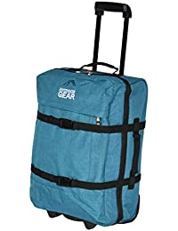 Cabin Size Suitcase on Wheels Hand Carry Luggage Frameless Lightweight H2342