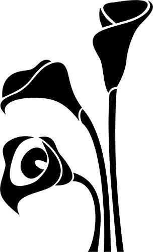 Adesivo fiore Calla prespaziato senza fondo, in